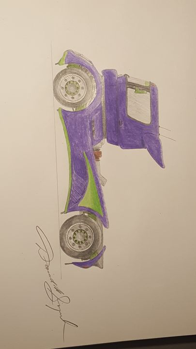 Race Truck in pencil - DavidMG