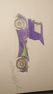 Race Truck in pencil
