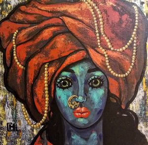 Girl with a blue turban