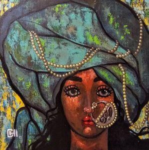 Girl in a pink turban