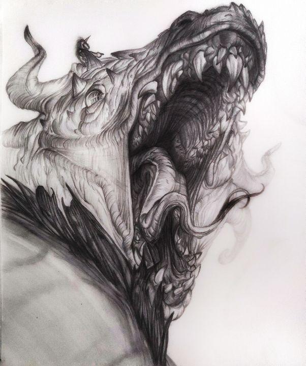 Unicorn and its pet dragon - artified__15