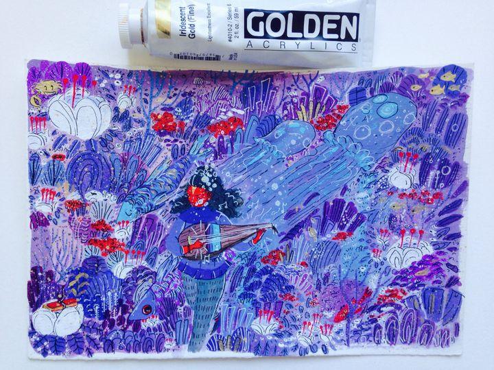 Yogini - Gouache & Ink