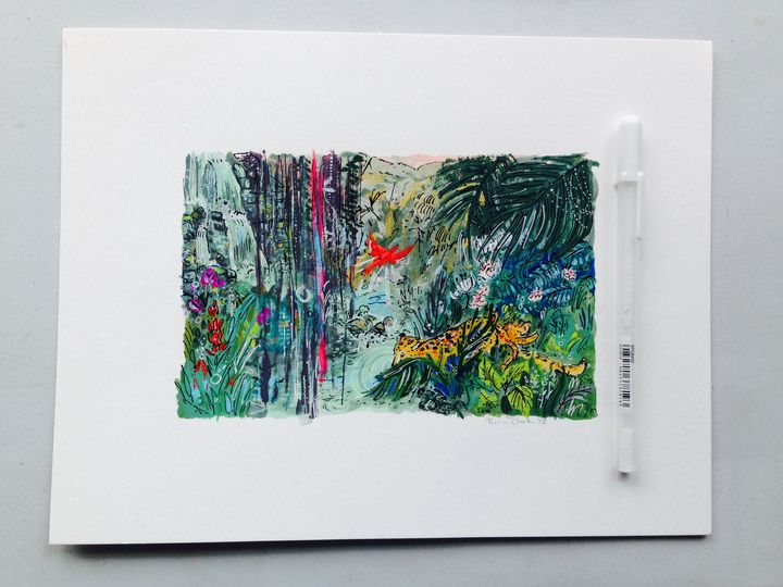 Jungle - Gouache & Ink