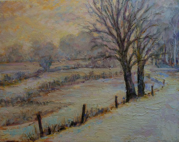 Sue's House, Winter - Sandra Rubel Art