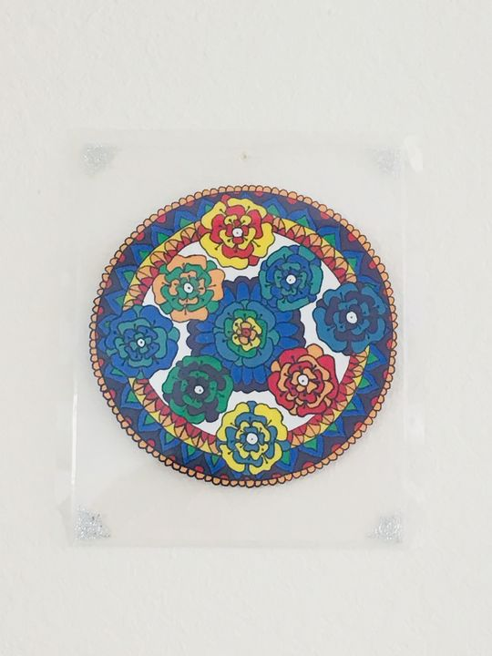 Rainbow Color Flower  Mandala - Butterflies11