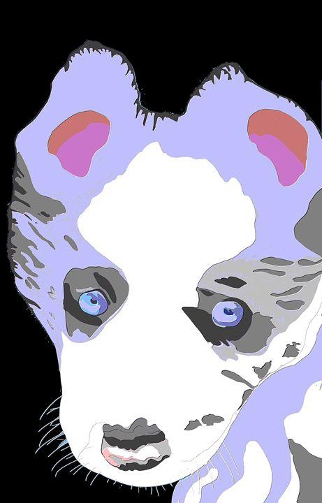 Blue Merle Puppy Art - KJHART