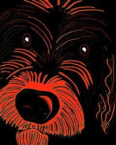 Scruffy dog art