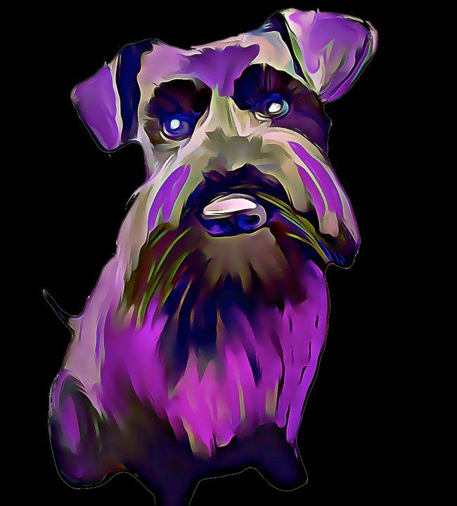 Colourful Little Purple Schnauzer - KJHART