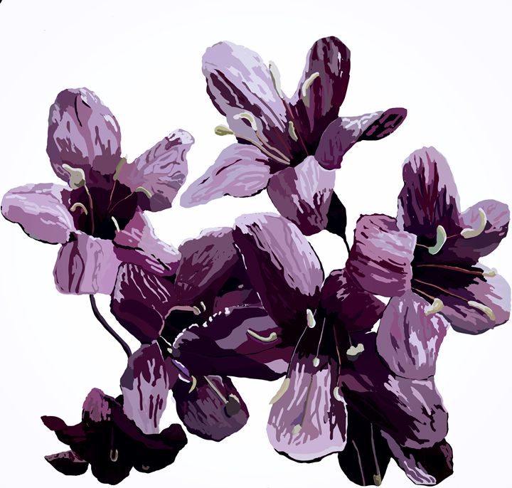 Purple Flower - KJHART