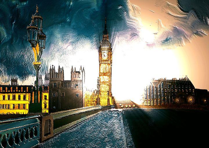 London Bridge Big Ben Artwork - KJHART
