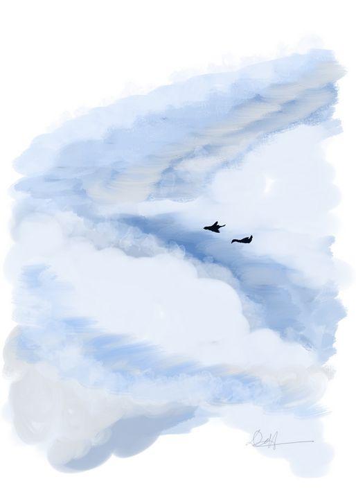 Love Birds in the Sky - Deame Hua
