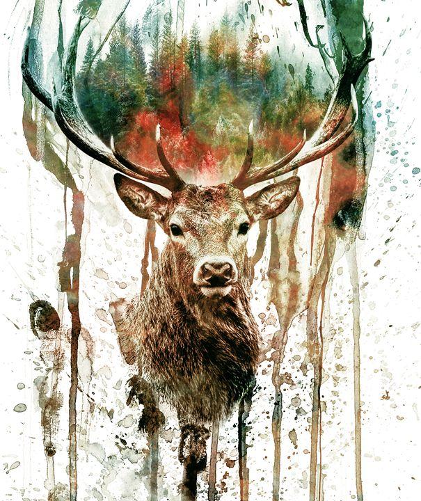Deer - Riza Peker