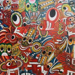 Yakku(sri lanka traditional art mix)