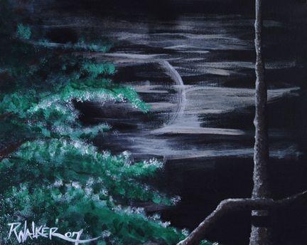 Full Moon Rising - Walker and Daughters Artastic