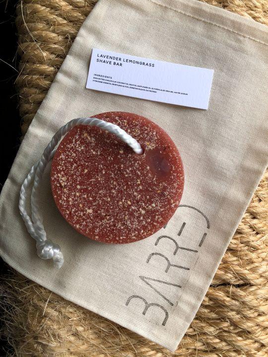 Lavender Lemongrass Shave Bar - Barred Soaps