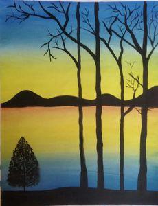 Amazing Lake Landscape Art Painting