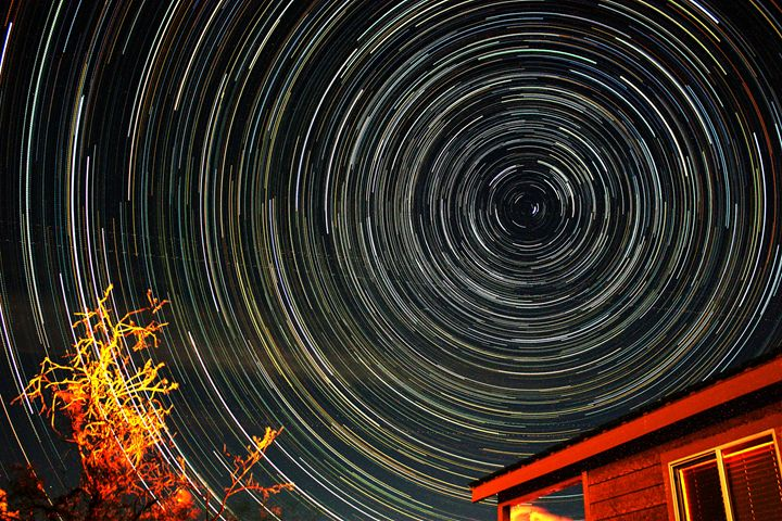 Star trails at Lake Alamo, AZ - Coachella Valley Astronomy and Astrophotography