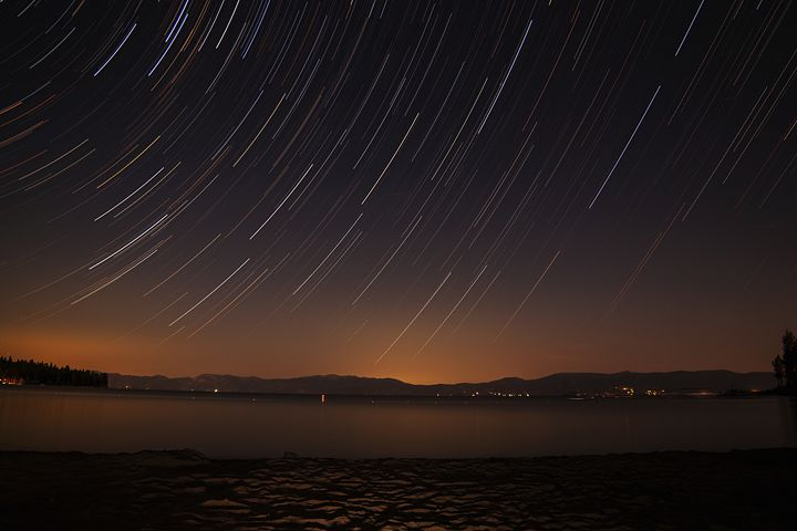 Star Trails - Lake Tahoe, CA - Coachella Valley Astronomy and Astrophotography