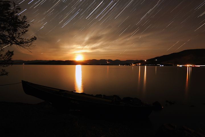 Star Trails - Flathead Lake, MT - Coachella Valley Astronomy and Astrophotography