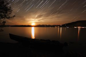 Star Trails - Flathead Lake, MT