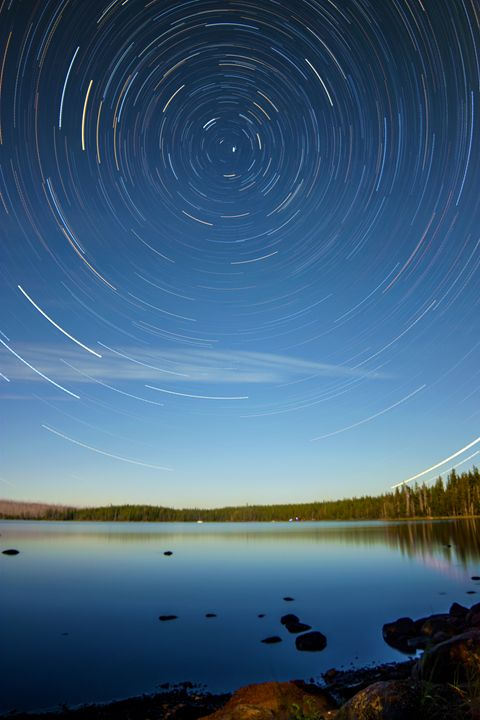 Star Trails - Waldo Lake, OR - Coachella Valley Astronomy and Astrophotography