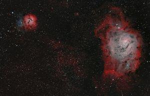 Lagoon Nebula & Trifid Nebula