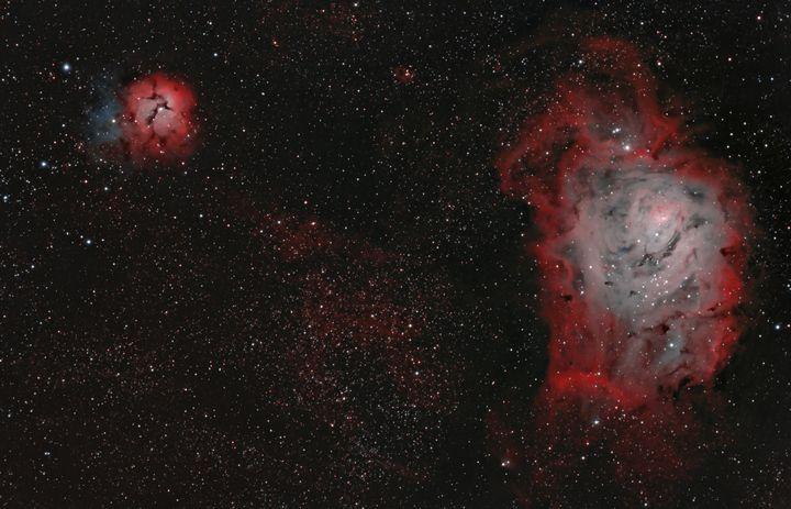 Lagoon Nebula & Trifid Nebula - Coachella Valley Astronomy and Astrophotography
