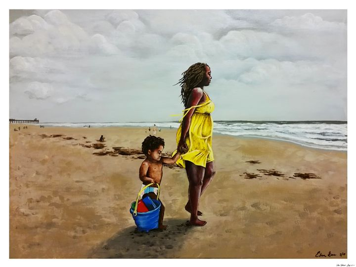 A Walk on the Beach - Edson S. Lima
