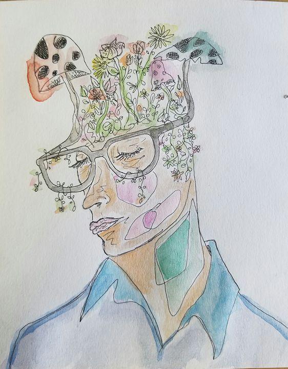 Garden head - Natalie Bradford Gallery