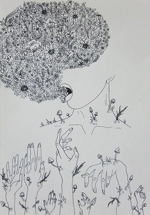 Sleep in the greenery #2 - Natalie Bradford Gallery