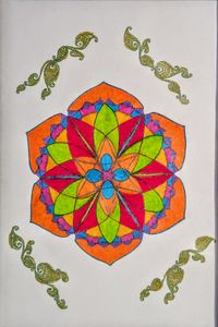 Mandala of female sexuality& passion
