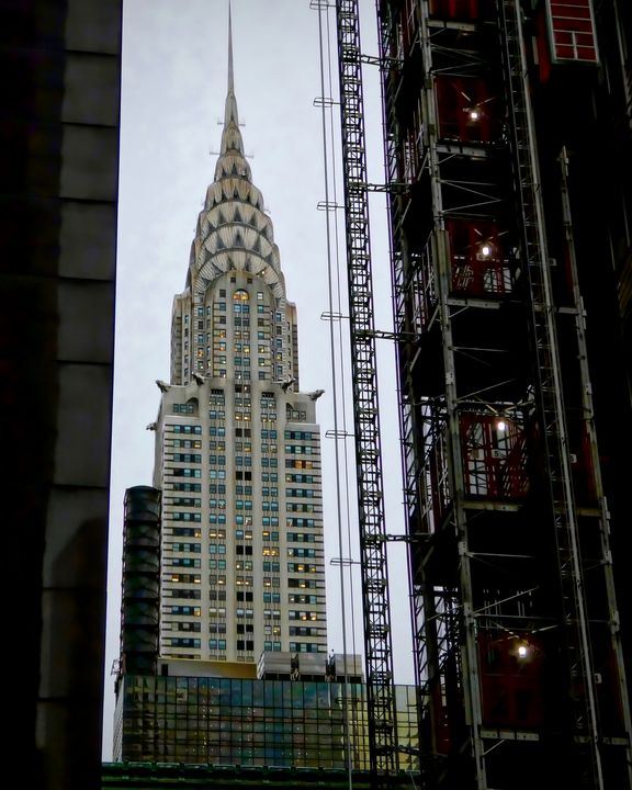 Chrysler Building with Construction - Dimage Studios