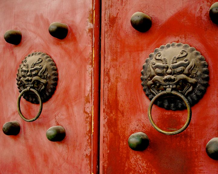 Massive Doors at Forbidden City - Dimage Studios