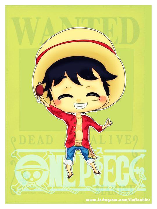 Chibi Luffy - fluffcakies