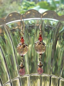 Pink Glass drops