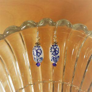 Ceramic glass beaded earrings