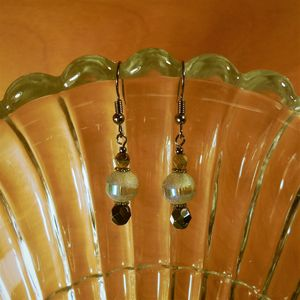 frosted glass earrings