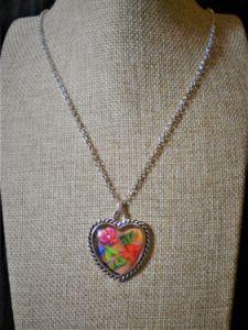 silk floral heart - LindoSpecialties