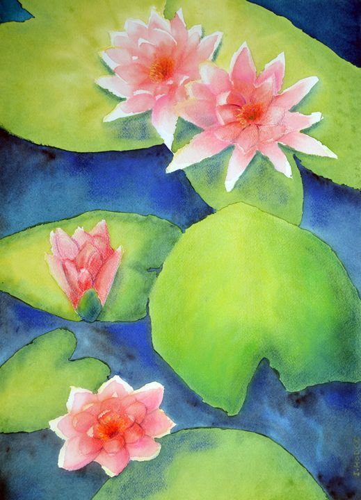 Water Lilies - Art by Isabelle Hodge