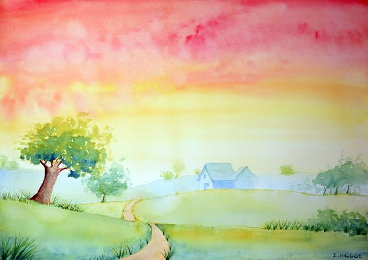 Rosy Sunset - Art by Isabelle Hodge
