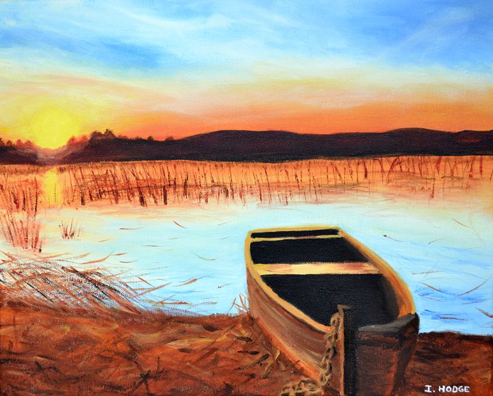 Sunset on The Marshes - Art by Isabelle Hodge