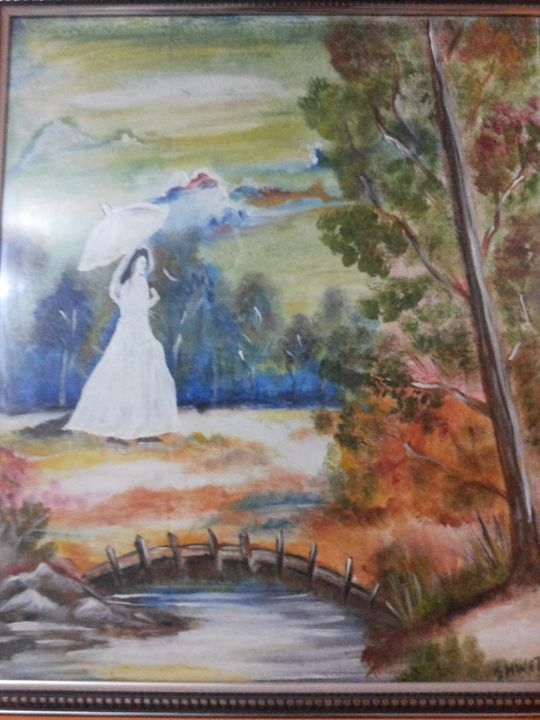 LADY IN THE GARDEN - OIL PAINTINGS BY SHWETA SINGH