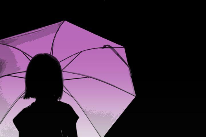 Pink Umbrella - Vintage Rose
