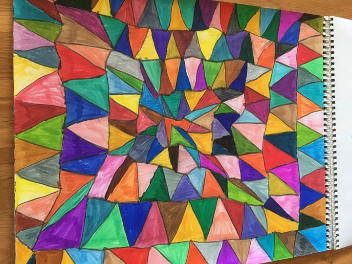 Happy square triangle - Shapes of color