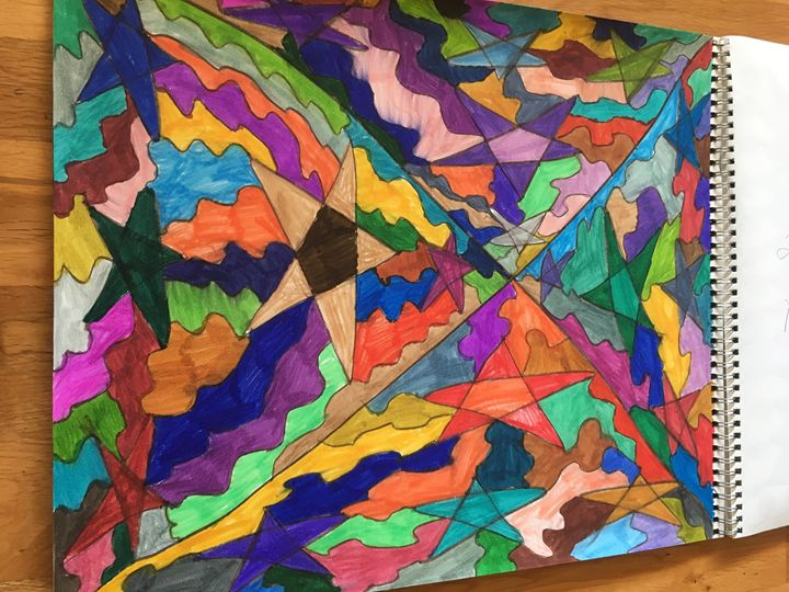 Triangle Star - Shapes of color