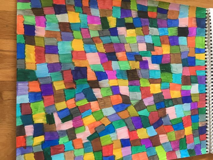 Color squares - Shapes of color