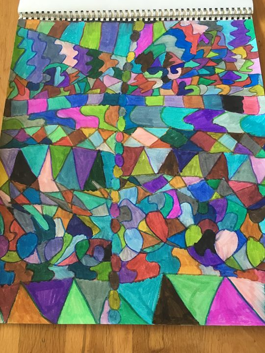 Triangle loops shapes - Shapes of color