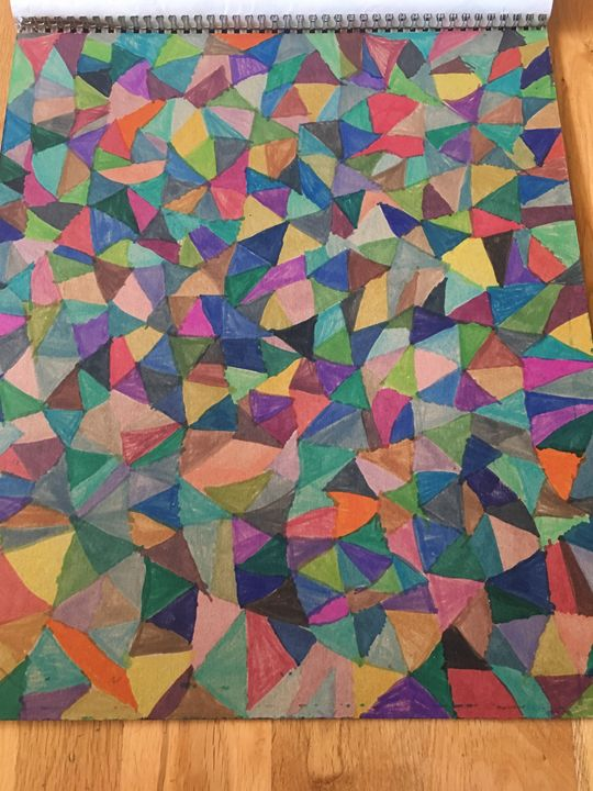Triangle color - Shapes of color