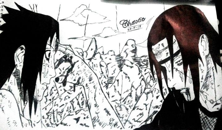 Itachi And Sasuke - Anime Drawings