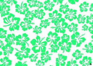 Green hibiscus pattern
